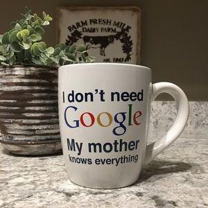 Funny I Don't Need Google Large Coffee Mug 22 oz